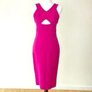 Victoria Beckham slvls peekhole neckline dress sz8